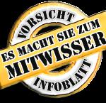 Vorsicht Infoblatt